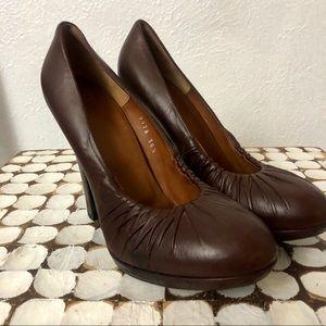 Dries Van Noten Brown Leather Heels - Sz 38.5